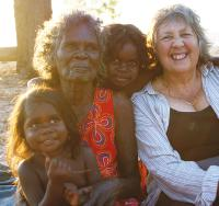 Local family on the World Expeditions community project trip in Arnhem Land, NT -  Photo: Gesine Cheung