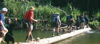 Trekkers crossing the Brown River on Day 5 of the Kokoda Trail   Rachael Davis