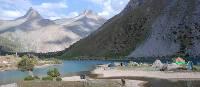 Camping alongside the Kulikalon Lakes in the Fann Mountains | Chris Buykx