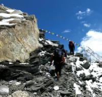 Rocky mountain side trail towards Ghunsa Kola on the Great Himalaya Trail -  Photo: Ray Mustey