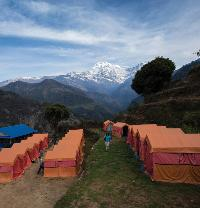 Private eco campsite at Landruk in the Annapurna region -  Photo: Mark Tipple