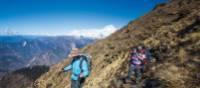 Trekkers enjoy fantastic weather while walking from Kopra Rodge to Swantha | Mark Tipple