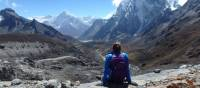 On way down from the challenging Cho La Pass, heading towards Dzongla, Nepal | Marcelle Barnett