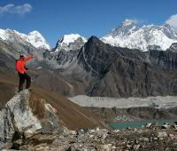 Enjoying the view at Gokyo Lake, in Nepal's Sagarmatha National Park -  Photo: Keri May